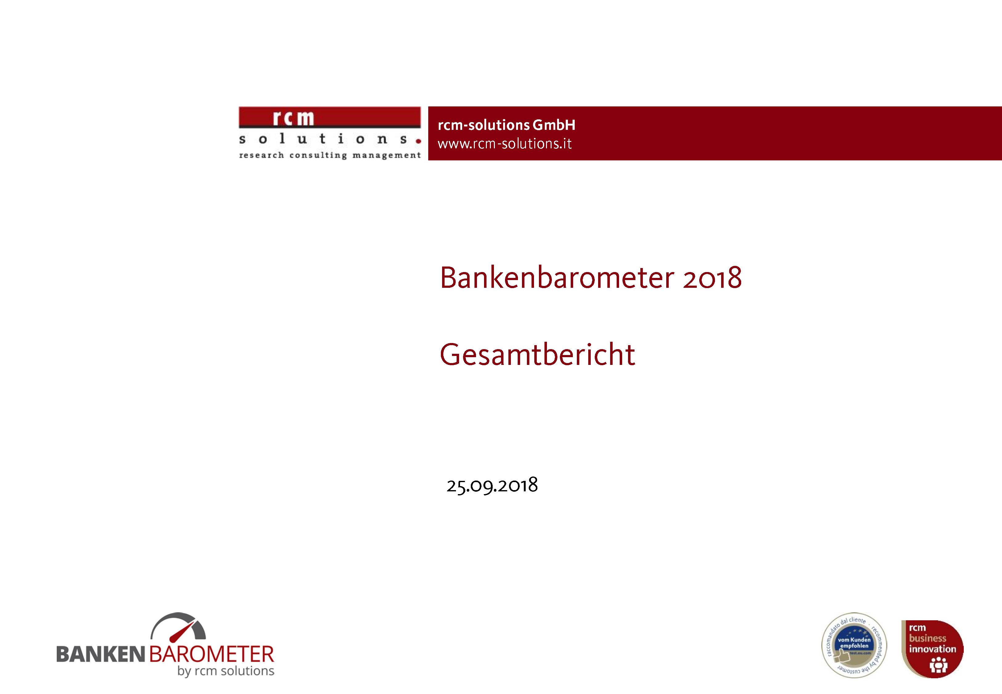 rcm-Bankenbarometer 2018